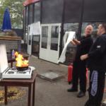 BHV brandblussen tijdens herhaling in Amsterdam